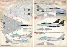 Print SCALE DECALS 1/72 Grumman F-14A/F-14B Tomcat VF-211 & VF-103 (2) # 72275