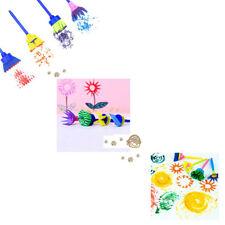 4 PCs Pour Enfants Dessin Jouets Pinceau à Peinture éponge Timbre De Fleurs