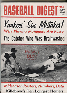 Baseball Digest July 1965 Clay Dalrymple Danny Cater  082620DBE