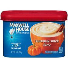3 Maxwell House International PUMPKIN SPICE LATTE INSTANT COFFEE MIX