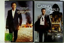2 DVD Filme Konvolut James Bond 007 Casino Royal Ein Quantum Trost Daniel Craig
