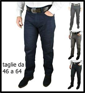 pantaloni da uomo in di fustagno linea jeans taglie forti 58 60 62 64 invernali