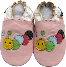 shoeszoo soft  leather baby shoes caterpillar pink 0-6m S