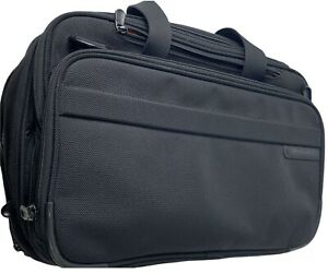 Excellent! Briggs & Riley Travelware Black Shoulder Bag Laptop Messenger