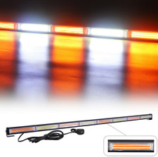 Amber White Cob Led Emergency Traffic Advisor Strobe Light Bar for Tow 45In