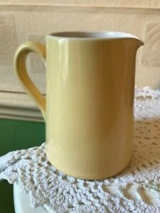 Vintage Lovatt's Cream Jug Pastel Yellow 1950's England 1/4 Pint