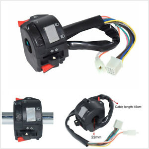 Motorcycle Handlebar Control Switch Headlight Fog Light Turn Signal Horn Switch