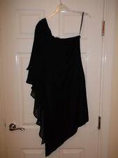 Oasis Black One Shoulder Dress Size S
