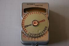 Vintage Sunset Unittic Model 31 Light Meter Euc with case