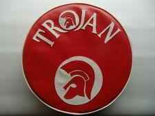 Red/White Trojan and Trojan Head Scooter Wheel Cover  Vespa/ Lambretta