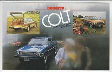 1979 DODGE COLT Coupe, Sedan & Wagon Ad Card POSTCARD Unused New Vintage Stock