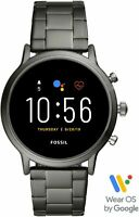 NEW - Fossil Gen 5 Smartwatch 44mm Carlyle HR Smoke Stainless Steel - Android