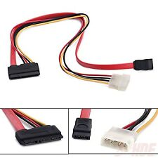 15+7 Pin Power/Data To 4 Pin Ide Power Sata Data Cable Hard Drive New PC Laptop
