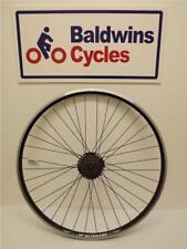 700c / 29er REAR Hybrid Bike Wheel D/ Wall BLACK Rim - Q/R + 7 SPEED FREEWHEEL