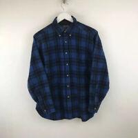 Vintage PENDLETON Lumberjack Checked Shirt Wool Made In USA Blue Mens Size Large
