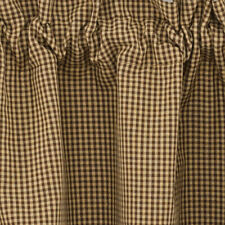 Shades Of Brown Lined 36 Inch Curtain Tiers