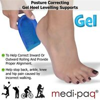GEL Posture Heel Leveling Foot Supports Angled Correcting Pronation Supination