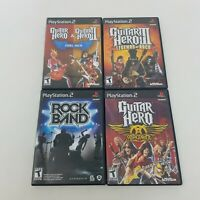 Guitar Hero and Rockband Playstation 2 Lot of 5 Games (Sony, PS2) - CIB