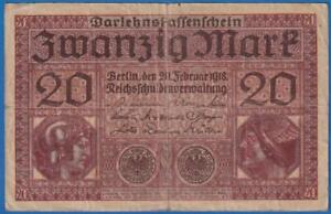 1918  GERMANY 20 MARK  banknote rare  LOW SHIPPING ->> See many more auctions