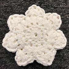 """~~SALE~~ 12 PCS 4"""" Vintage Handmade Round Crochet Doily Doilies Cup Mat Coaster"""