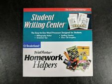 Vintage The Learning Company Student Writing Center Pc Cd-Rom Software