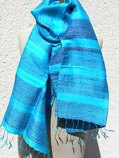 écharpe en soie seidenstola bleu jacquarddesign nouveau ws07