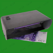 Plug In Electronic Counterfeit Banknote Checker UV Fraud Security Mark Detector