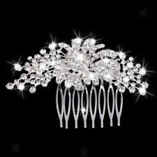 Peigne à Cheveux Décoratif Diadème Strass Accessoires de Coiffure pour Mariée