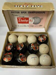 VTG 1 Dozen Mixed Lot Dunlop '65 & Johnny Bulla Golf Balls