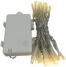LED Lichterkette Batterie Timer 48 LEDs für innen und außen