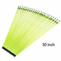 6/12/24pcs 30 inches Archery Carbon Arrows Plastic Vanes SP500 ForCompound Bow