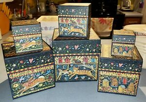 Bob's Boxes by Lang - Set of 6 Nesting Boxes - World So Sweet - Cats Rabbit