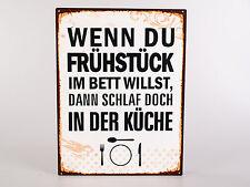 Blechschild Wandbild nostalgisch mit Spruch 35 X 26cm Von Formano Art. 604828