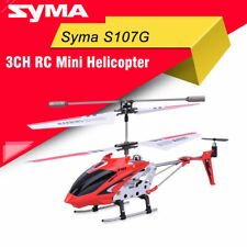 Syma S107G 3CH RC Red Helicopter Alloy Fuselage Drone with Gyroscope Lights