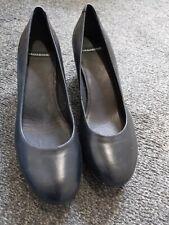 Size 6 Black Leather Vagabond Wedge Shoes