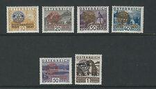 AUSTRIA 1931 ROTARY INTERNATIONAL overprinted set (Scott B87-92) VF MNH/MH