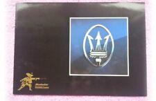 MASERATI GHIBLI KHAMSIN Merak Bora MOSCHETTIERE TUNING opuscolo rivista LIBRETTO