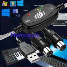Keyboard to PC Adapter MIDI 5-Pin to USB Music Adapter Cable Converter Inte
