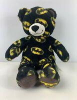 """BUILD A BEAR WORKSHOP BLACK BATMAN LOGO TEDDY BEAR 16"""" STUFFED SOFT TOY PLUSH"""