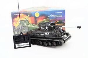 New Radio Shack Vintage Sherman Tank RC Car Original Box & Controller 60-4059
