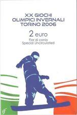 2 euro blister Coincard Italia 2006 OLIMPIADI TORINO
