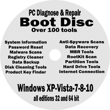 Windows XP-7-10 - the Best Recovery Repair Boot CD for Laptop Desktop Computers