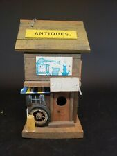 Rustic Country Village Antiques Store Wood 2 Story Bird House Feeder Vintage