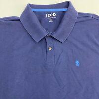 Izod Advantage Polo Shirt Men's 2XL XXL Short Sleeve Navy Casual Cotton Blend