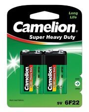 10 x Camelion 9V Block 6F22 Super Heavy Duty Zink Chlorid E-Block Batterie