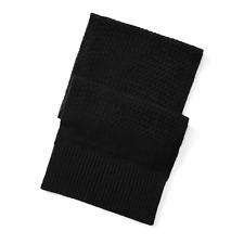 RRL Ralph Lauren Basket Weave 100% Cashmere Military Service Scarf Men's Black