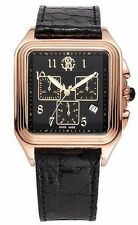 New Mens Roberto Cavalli r7251692025 Rose Gold Square Swiss Chronograph Watch