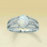 925 SILVER FILLED STAMPED SILVER SHINY OPAL STYLE RING SIZE R 1/2 LAST 1 !!
