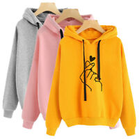 Autumn Winter Women Long Sleeve Hoodie Sweatshirt Hooded Pullover Jumper Tops