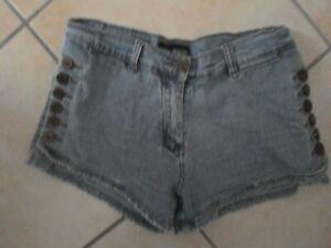 Shorts Jeansshorts blau Knöpfe Reißverschluss Gürtelschlaufen Gr.36/38 / ub Jean